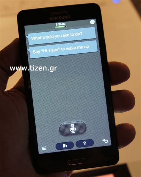 the tizen phone samsung redwood leaks out s voice responds to hi tizen now