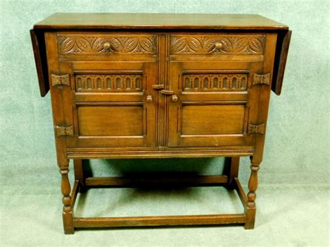 Credence Cupboard by Oak Drop Leaf Credence Cupboard Sideboard Circa 1920