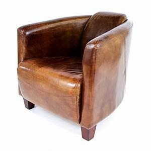 Fauteuil Crapaud Cuir : fauteuil club design en cuir de vachette ~ Teatrodelosmanantiales.com Idées de Décoration