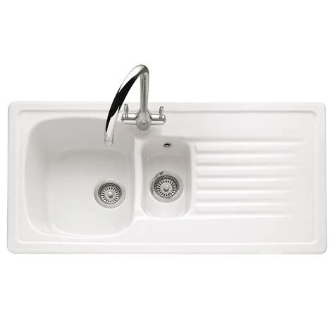inset ceramic kitchen sinks caple ashford 150 inset ceramic sink sinks taps 4700