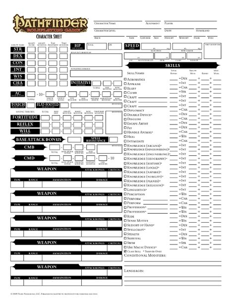 pathfinder templates pathfinder character sheet printable carisoprodolpharm