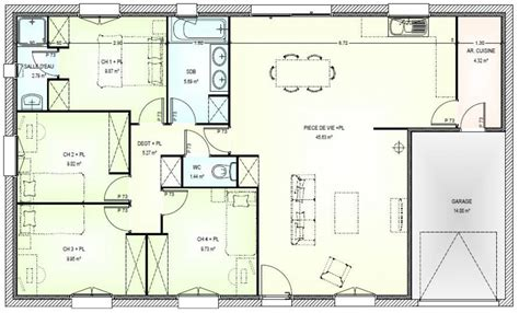plan maison 4 chambres gratuit plan maison plain pied 4 chambres