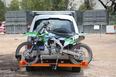 rack and roll bend rack n roll bike carrier australasian dirt bike magazine
