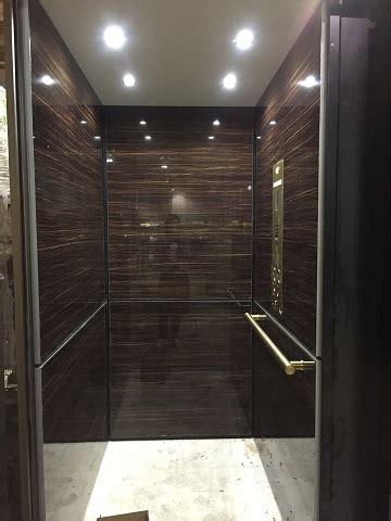 sleek  modern residential elevators installed