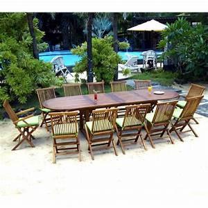Salon De Jardin 12 Places : salon de jardin 12 places sumatra kuta en teck huil et livr avec coussins ~ Teatrodelosmanantiales.com Idées de Décoration