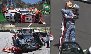 supercars craig lowndes  warren luff  big crash