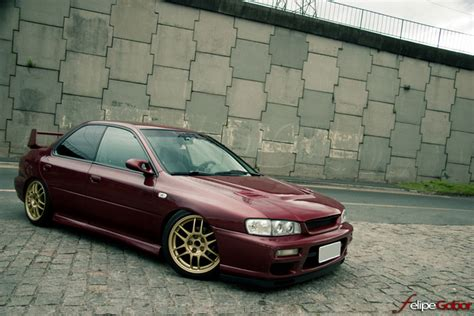 burgundy subaru wrx featured ride andre 39 s impreza stance is everything