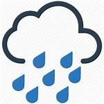Rain Icon Heavy Cloud Drops Icons Weather