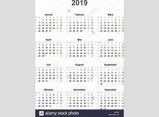 Kalender2019 universal außer an Feiertagen Vektor