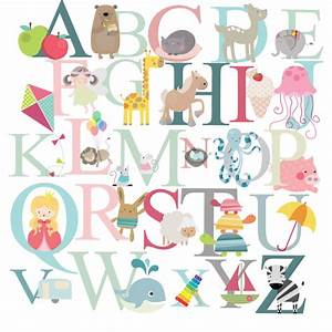 alphabet wall stickers 2017 grasscloth wallpaper With alphabet wall letters decals