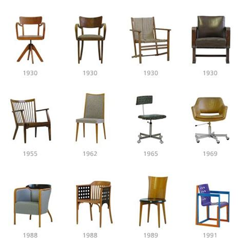 evolution de la chaise evolution of chair design in the history vector free
