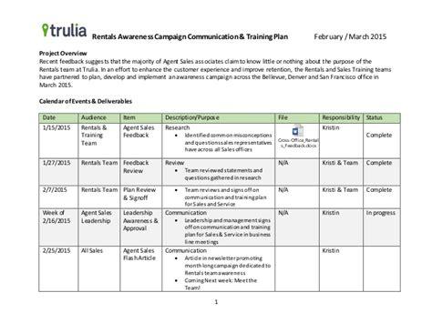 The Management Center Program Plan Template by Exle Communication Training Plan