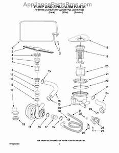 Parts For Whirlpool Gu3100xtvq0  Pump And Sprayarm Parts