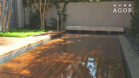 garden decking that sinks to transform into swimming