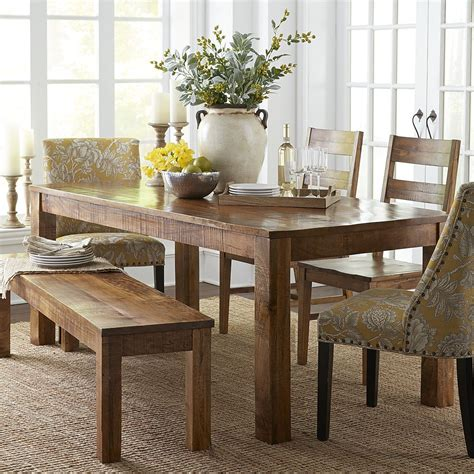 pier 1 kitchen table and chairs parsons 76 quot java dining table home mango wood dining