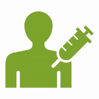 Icon Vaccine Injection Clipart Dependence Person Medicine