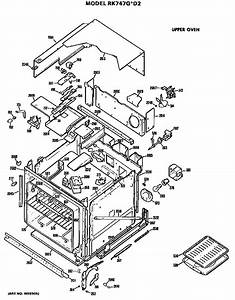 Upper Oven Diagram  U0026 Parts List For Model Jp345s1wg Ge