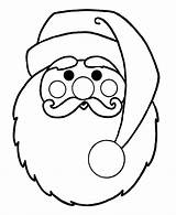 Coloring Santa Beard Face Claus Pages Popular sketch template