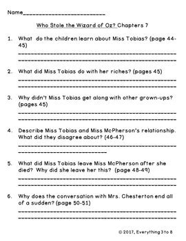 Who Stole the Wizard of Oz Level P Guided Reading