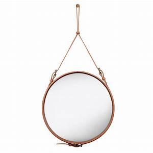 Spiegel Rund 70 Cm : adnet spiegel rund 58 cm in braun von gubi online kaufen hublery ~ Whattoseeinmadrid.com Haus und Dekorationen