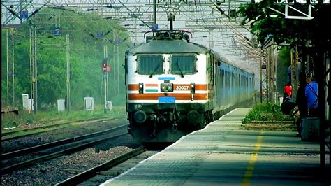 Fastest Shatabdi Express At Top Speed    150 KMPH OVERTAKE ...