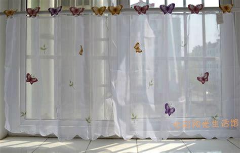 fen黎re cuisine petit papillon simple rideau blanc cuisine rideaux fenêtre cantonnière 3 tailles 3d papillon rideaux dans rideaux de la maison cuisine et