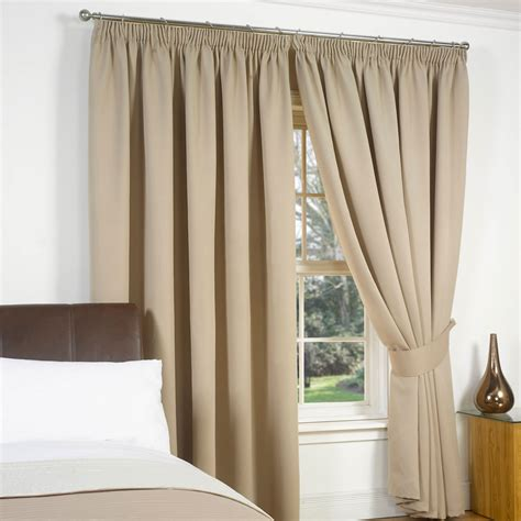 thermal pencil pleat blackout pair curtains ready made