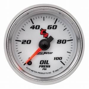 Autometer C2 Series  2 1  16 Electric Oil Pressure Gauge  0