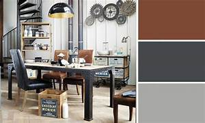 Quelles couleurs se marient avec le marron for Deco cuisine avec chaise cuir noir salle manger