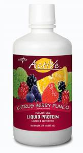 Active Sugar-free Liquid Protein Nutritional Supplement