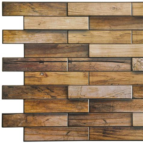Solid wood 3d wall panel 004. Yellowish Brown Faux Walnut Wood, 3.2 ft x 1.6 ft, PVC 3D Wall Panel, Interior Design Wall ...