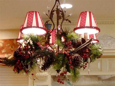christmas decorations for chandeliers 15 christmas decorating ideas for pendant lights and chandeliers