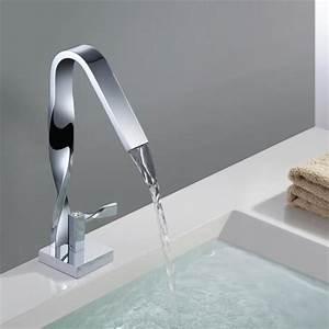 robinet cascade de vasque mitigeur design moderne pour With robinets de salle de bain