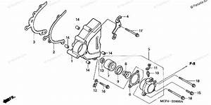 Honda Motorcycle 2004 Oem Parts Diagram For Left Crankcase