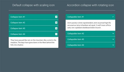 material design bootstrap accordion coding fribly