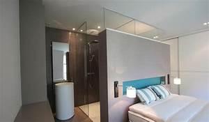 salle de bain ouverte a la chambre la suite parentale par With salle de bain dans petite chambre