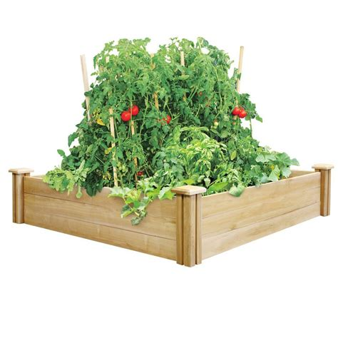 greenes fence raised garden bed greenes fence 4 ft x 4 ft x 10 5 in dovetail cedar