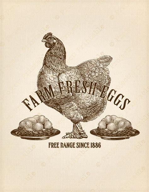 Vintage Farmhouse Images by Farm Fresh Eggs Sign Instant Printable