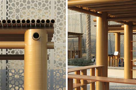 shigeru ban s cardboard pavilion abu dhabi design souq