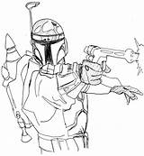 Coloring Pages Wars Fett Star Jango Barber Printable Getcolorings Comments sketch template