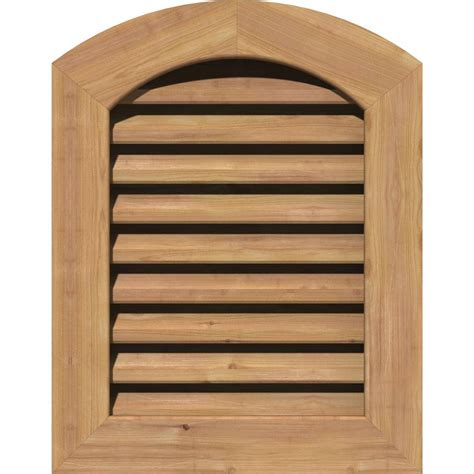 cedar gable vents ekena millwork 23 in x 29 in smooth western cedar 2031