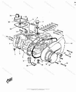 Kawasaki Motorcycle 1970 Oem Parts Diagram For Engine