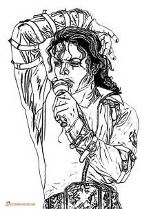 michael jackson coloring pages free printable images