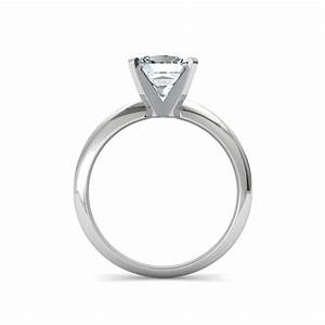 Knife edge princess cut solitaire diamond engagement ring for Princess cut solitaire engagement ring with wedding band