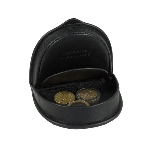 porte monnaie homme en cuir noir cuvette g 233 rard henon
