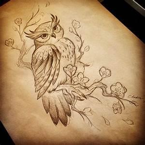 design owl tattoo drawing on Instagram