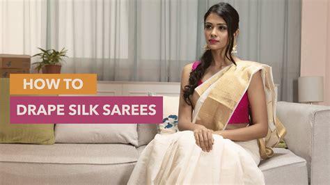 How To Drape Saree Perfectly - how to drape a silk saree perfectly saree draping hacks