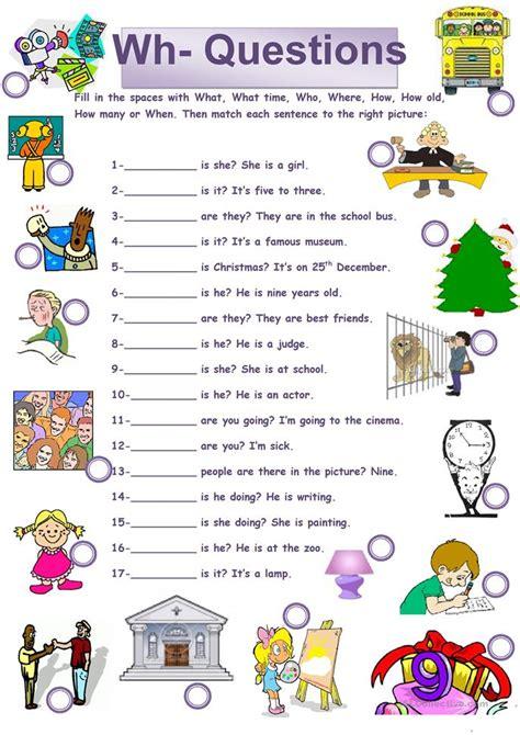 wh questions worksheet  esl printable worksheets