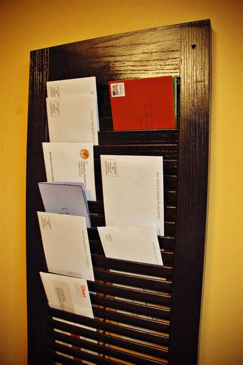 diy project shutter mail organizer mlive com