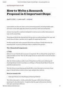 Example Of Written Research Proposal Website Content Writing
